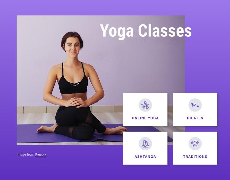 Yoga and pilates classes Website Builder Software