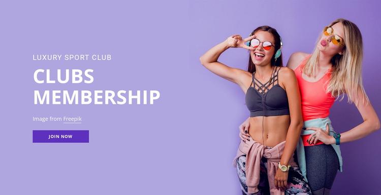 Sport membership club Website Mockup