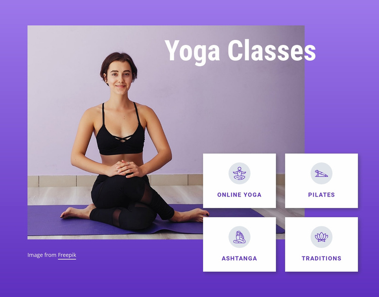 Yoga and pilates classes Website Template