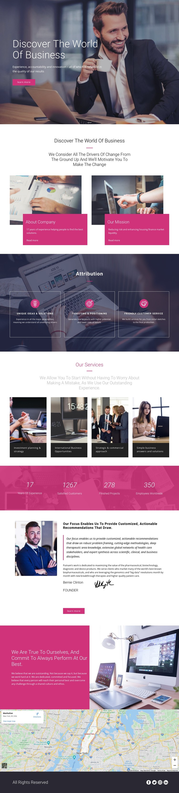 The largest management consultancy CSS Template