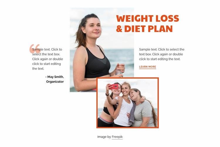 Fitness and bodybuilding Website Mockup