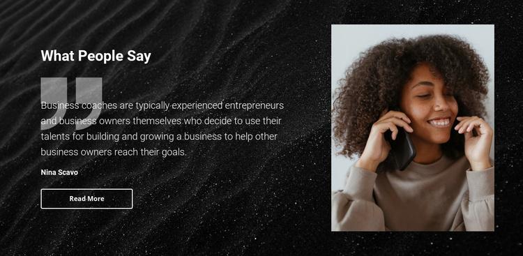 Beauty salon testimonials Joomla Template