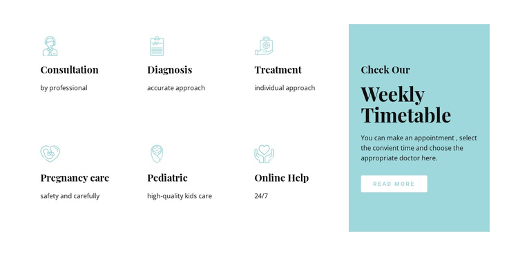 Our medicine services One Page Template