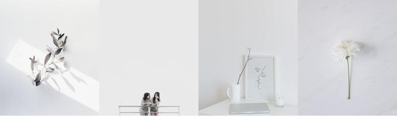 Minimalism in photographs Web Page Designer