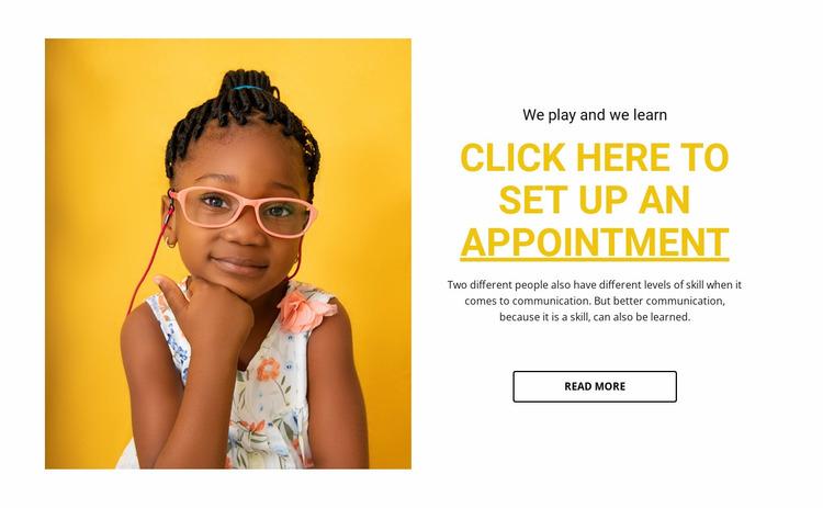 Children education course Website Mockup
