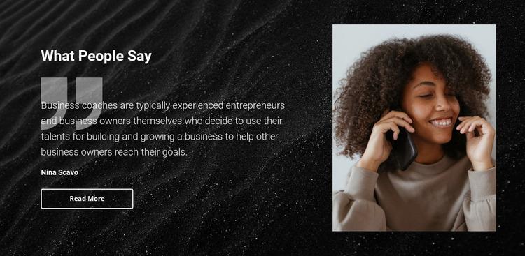 Beauty salon testimonials Website Mockup