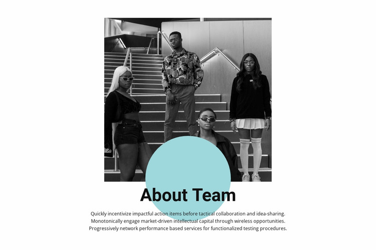 Young professionals Website Mockup
