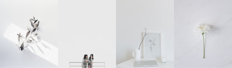 Minimalism in photographs Website Template