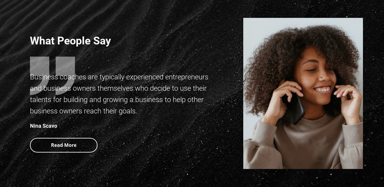Beauty salon testimonials Wysiwyg Editor Html