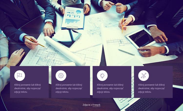 Analizujemy biznesy Szablon witryny sieci Web
