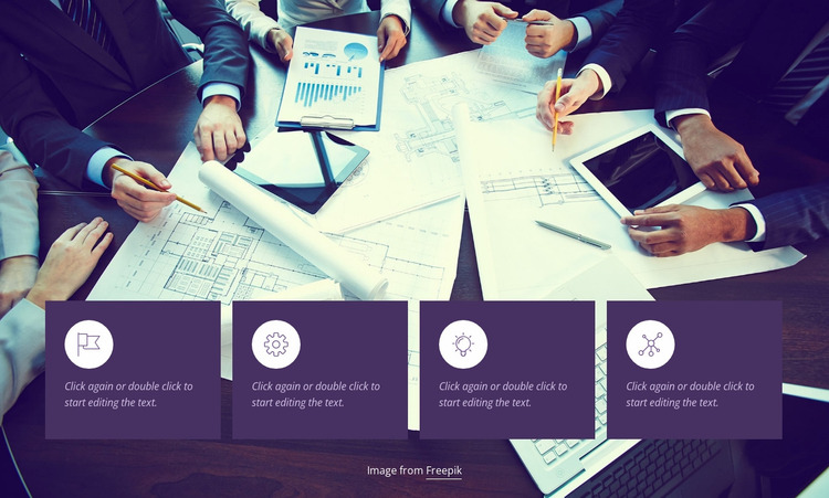 We analyze businesses Website Mockup