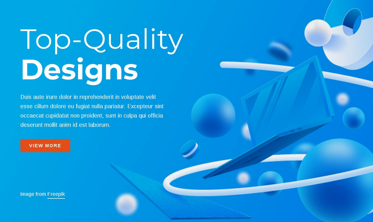Top quality designs Website Template