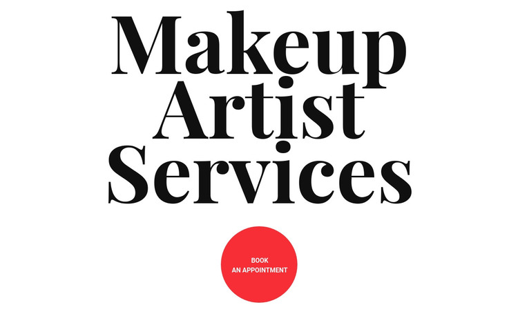 Makeup artist services Homepage Design
