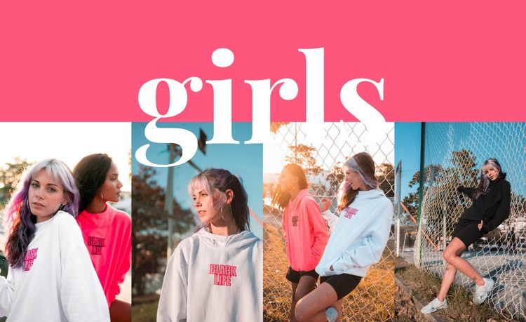 Girls sport collection Html Code Example
