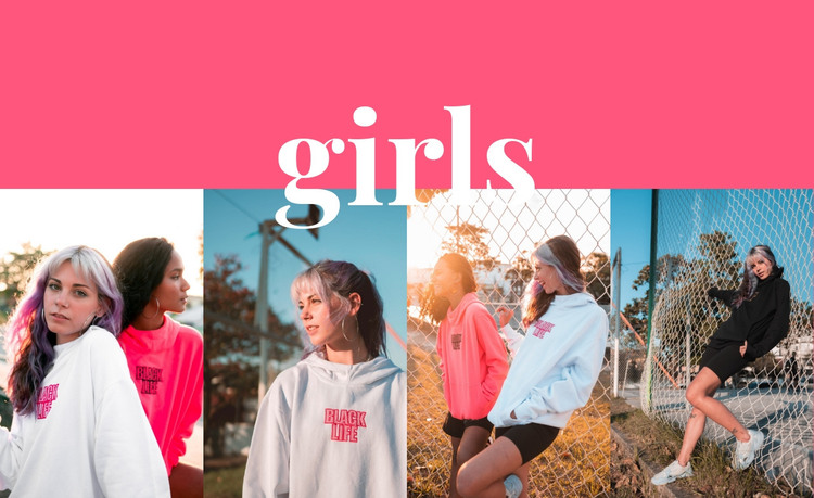 Girls sport collection HTML Template