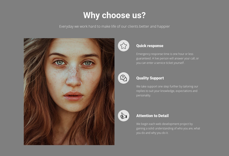 Hair-cutting, colouring and styling HTML5 Template