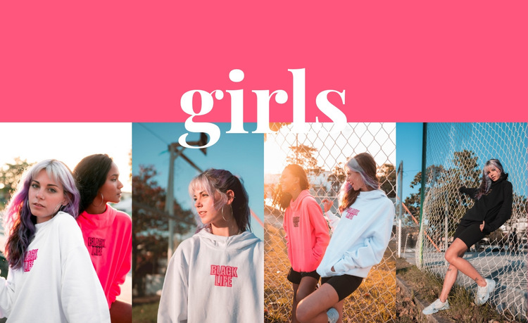 Girls sport collection HTML5 Template