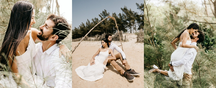 Gallery with wedding photos HTML5 Template