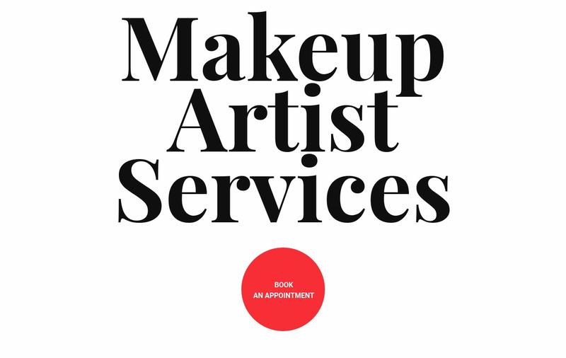 Makeup artist services Web Page Design