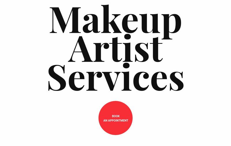 Makeup artist services Web Page Designer