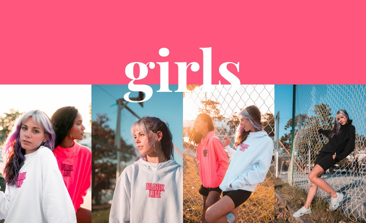 Girls sport collection Website Design