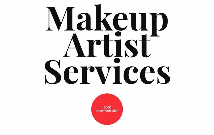 Makeup artist services Website Mockup