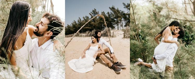 Gallery with wedding photos Website Mockup