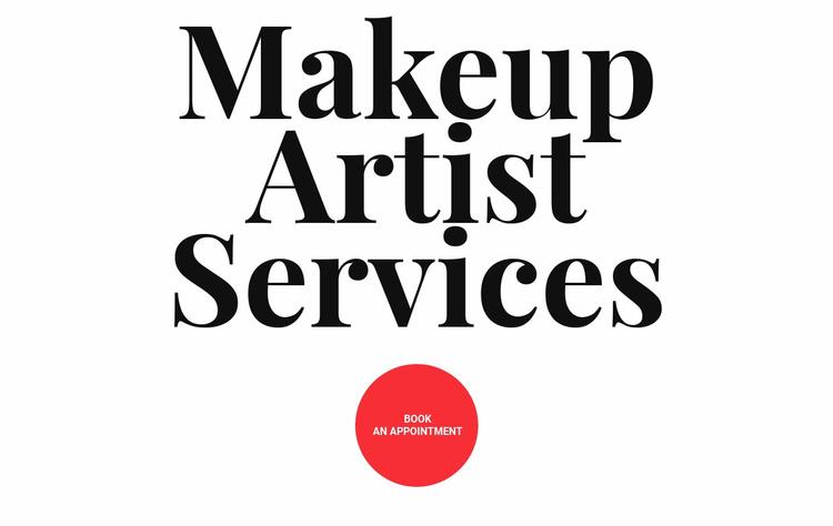Makeup artist services Landing Page