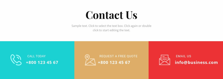 Contact our business Landing Page