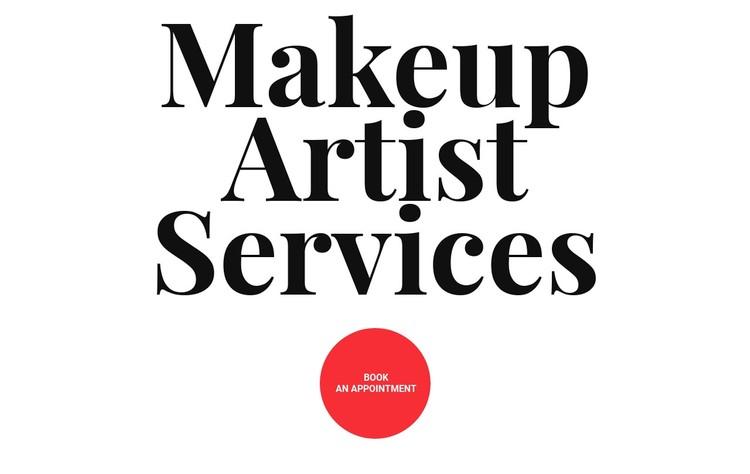 Makeup artist services WordPress Template
