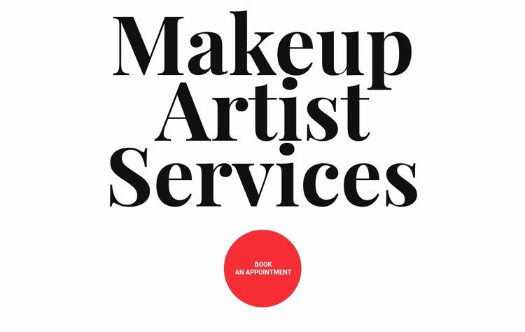 Makeup Artist Services WordPress
