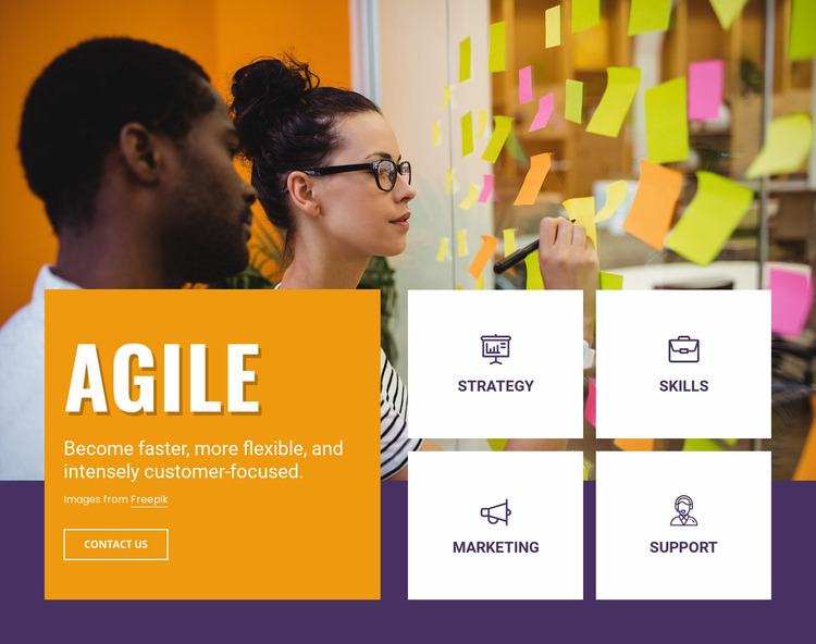 Agile consulting services Website Mockup