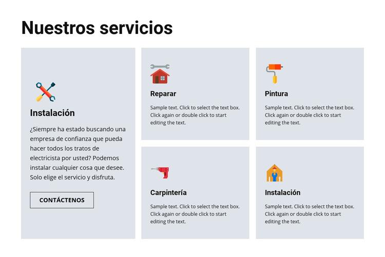 Servicios de reparación de calidad Plantilla de sitio web
