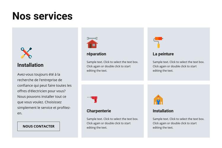 Services de réparation de qualité Modèle de site Web