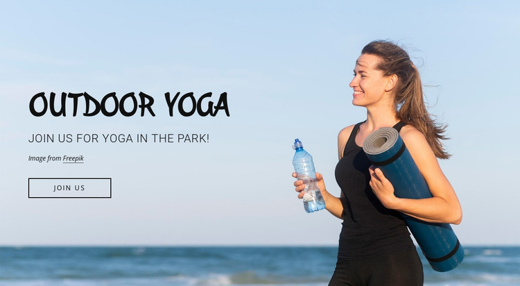Outdoor fitness classes HTML Template