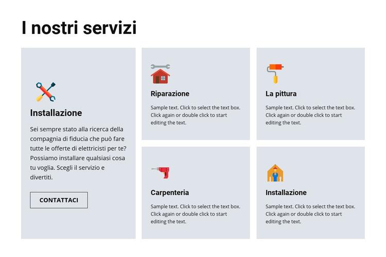 Servizi di riparazione di qualità Modello di sito Web