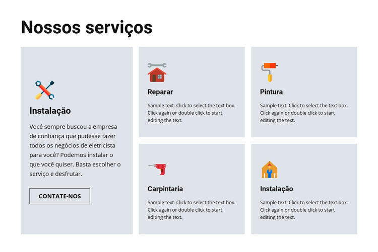 Serviços de reparo de qualidade Modelo de site