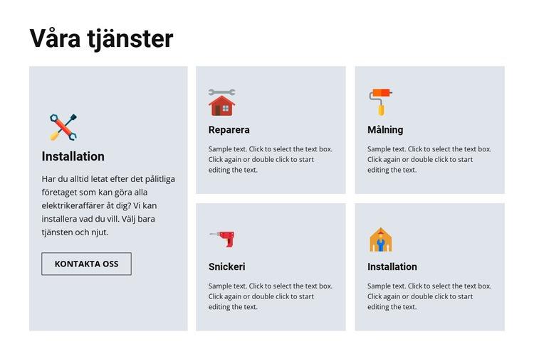 Reparationstjänster av hög kvalitet Webbplats mall