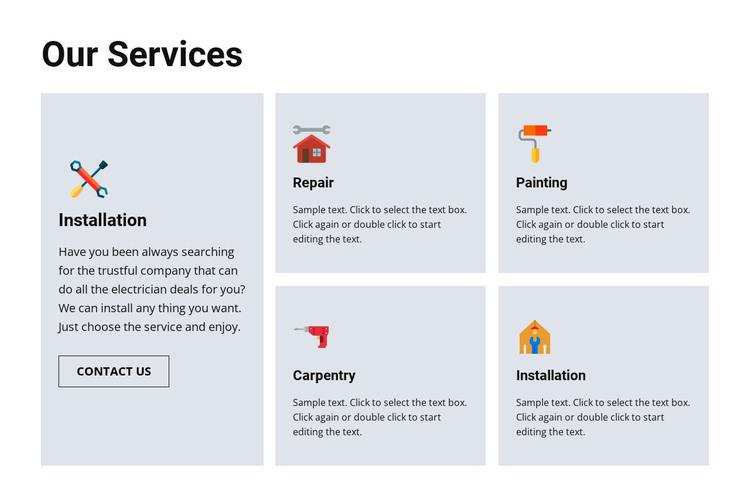 Quality repair services Web Design