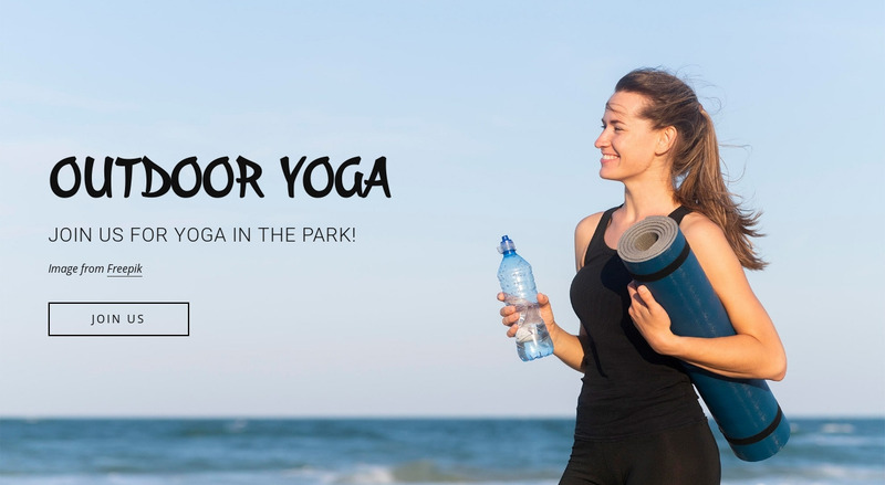 Outdoor fitness classes Web Page Design