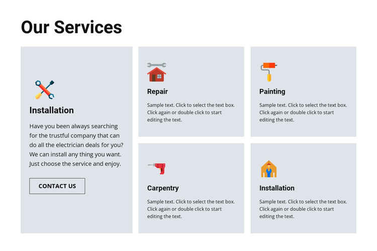 Quality repair services Website Builder Software