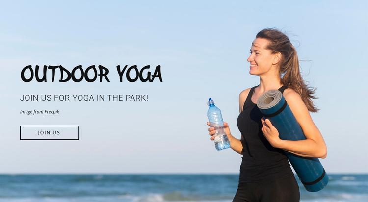Outdoor fitness classes Website Template