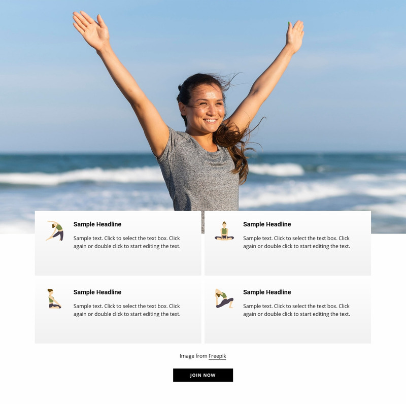 Outdoor yoga and pilates Web Page Design