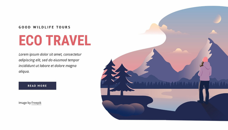 Eco travel company Web Page Design