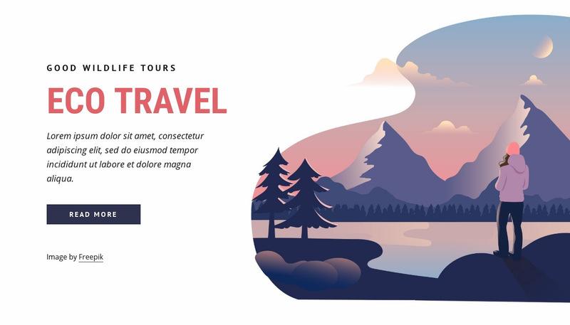 Eco travel company Web Page Designer