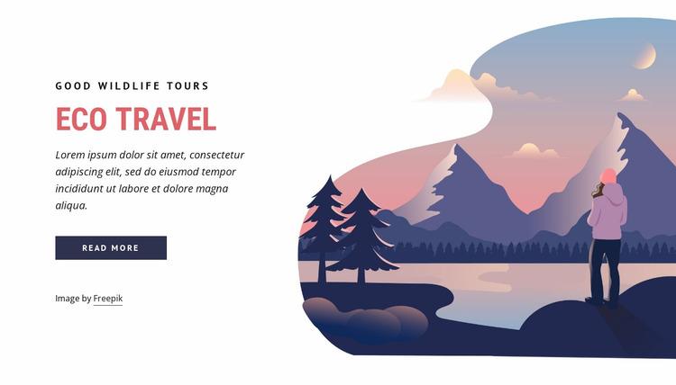 Eco travel company Website Mockup
