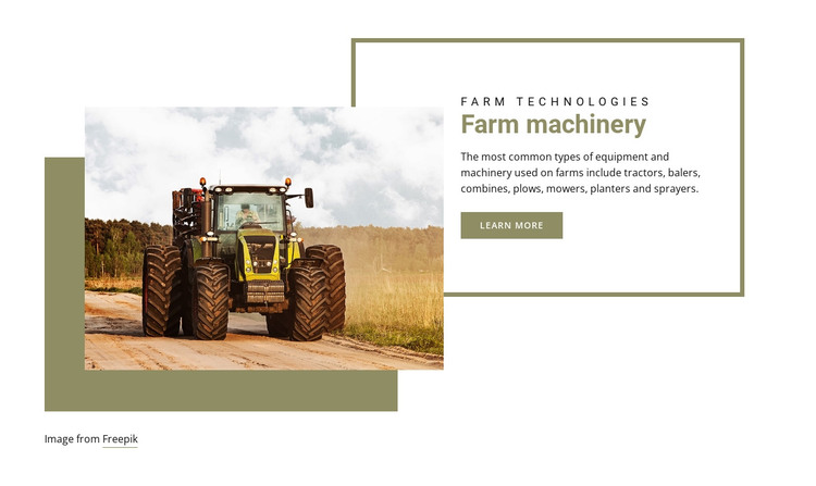 Organic food farming HTML Template