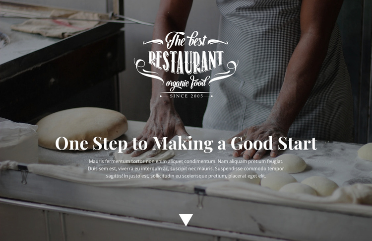 Opening of a new bakery One Page Template