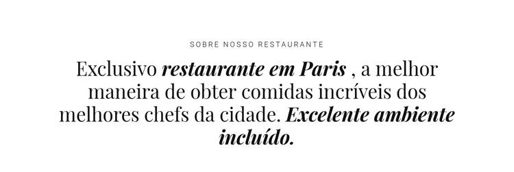 Sobre restaurantes Modelo de site