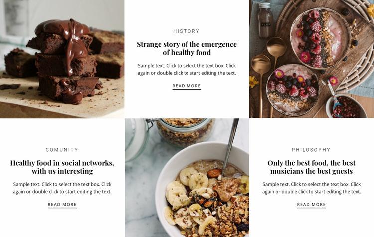Delicious food restaurant Website Design